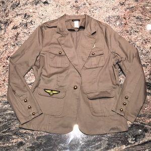 Metaphor XL military style brown blazer